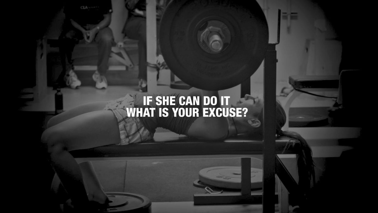 Excuse Workout BW Exercise text wallpaper