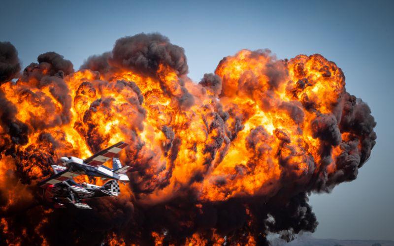 Airplane Plane Explosion Fire wallpaper