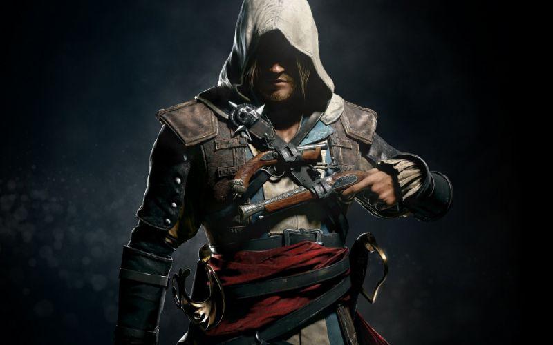 Assassin's Creed Black Flag Pirate weapons guns warrior wallpaper