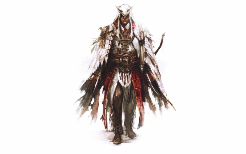 Assassin's Creed Drawing White warrior wallpaper