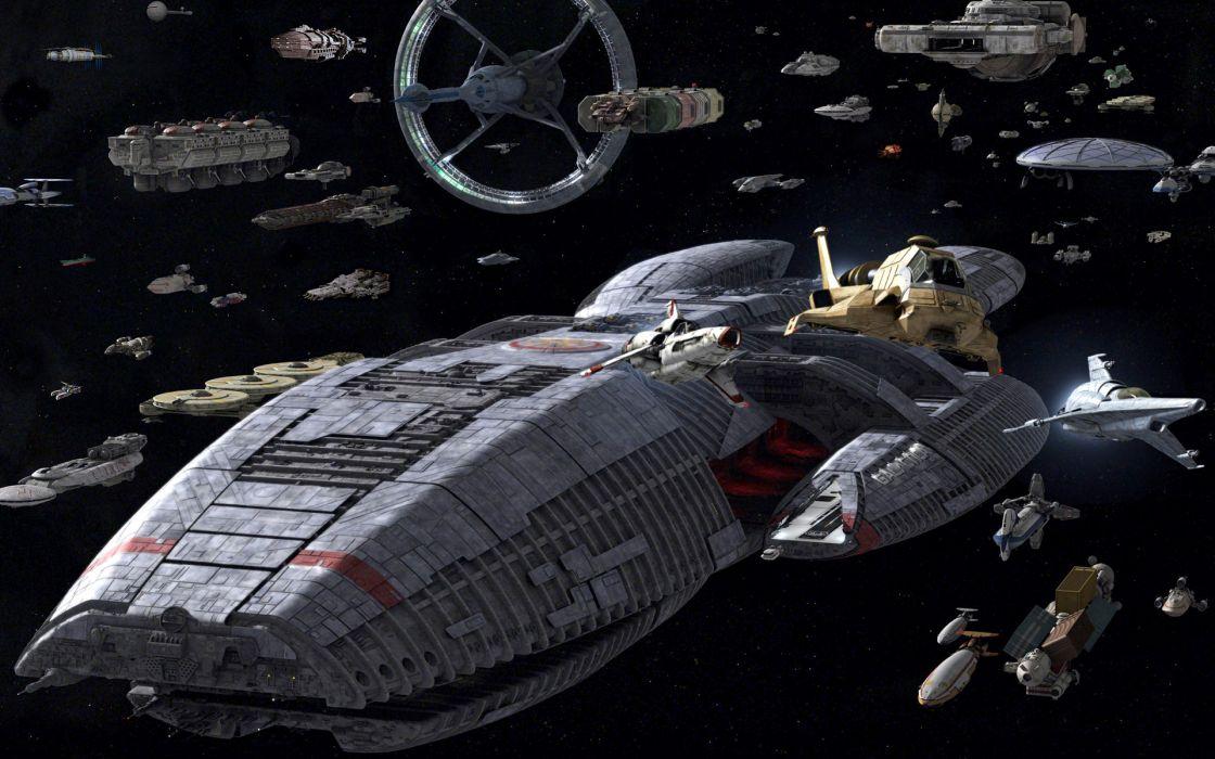 Battlestar Galactica television spaceship sci-fi wallpaper