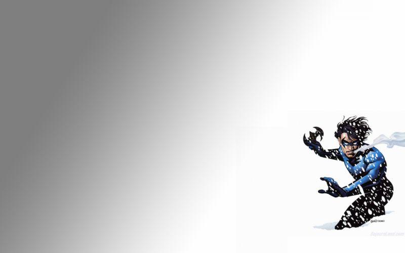 Nightwing Batman Snow comics wallpaper