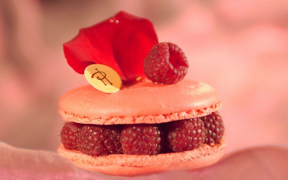 food background petal wallpaper berry filling raspberry rose cookies cakes sweet desert pastry wallpaper