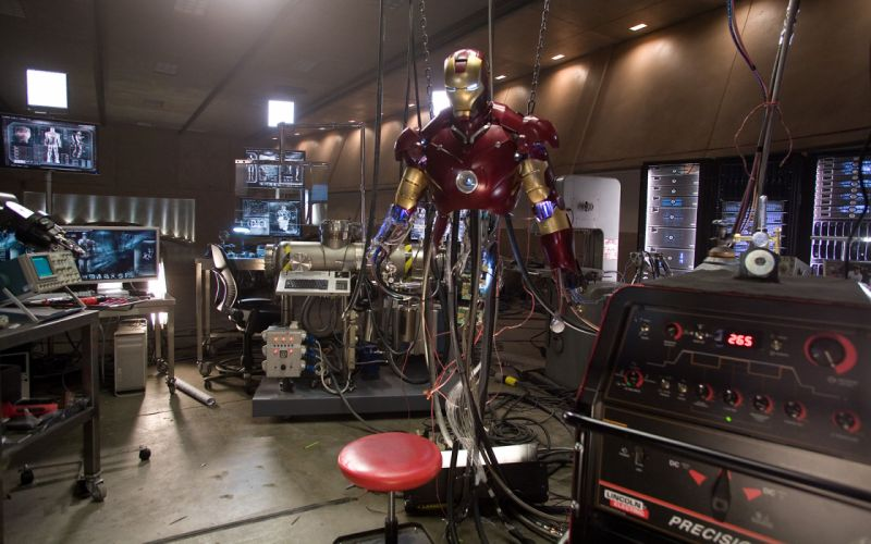 Iron Man Machine Laboratory wallpaper
