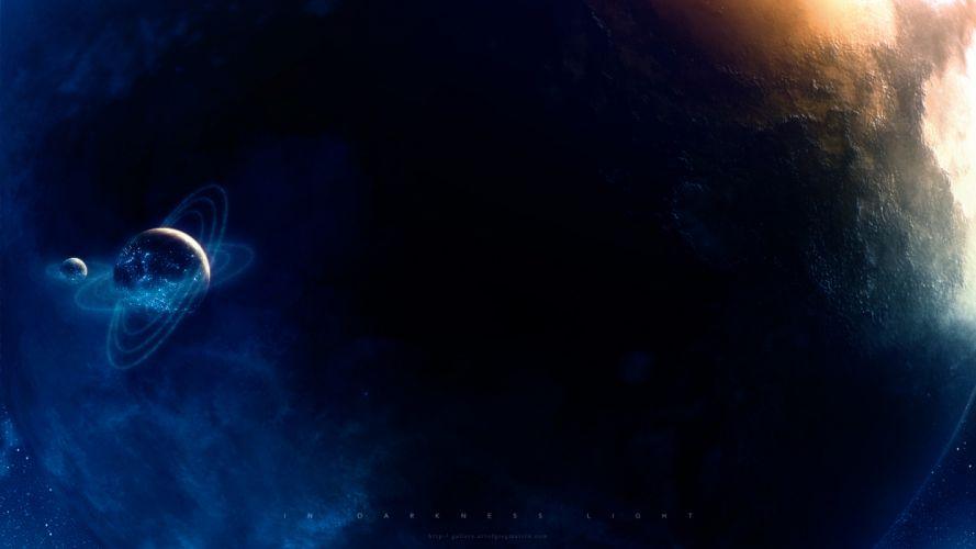 planets cgi digital space sci-fi stars wallpaper