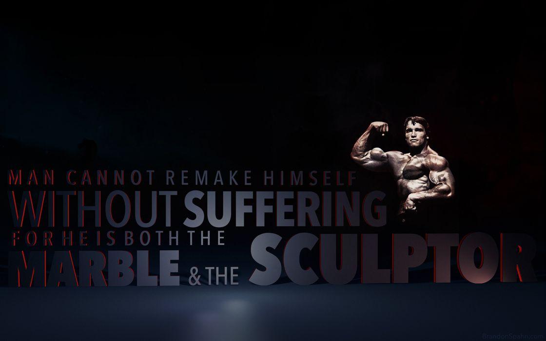 Socrates Marble Sculptor Sculpture Black Arnold Schwarzenegger Bodybuilding Muscle Physique text quotes wallpaper