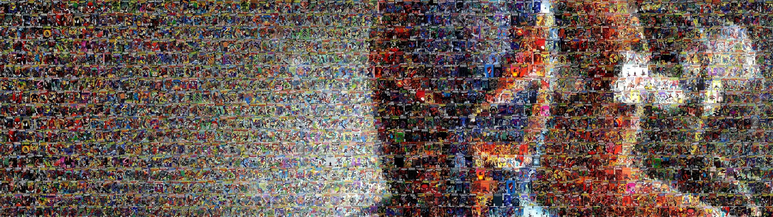 Spiderman Mosaic Marvel Comics Collage Multi Dual Screen E Wallpaper