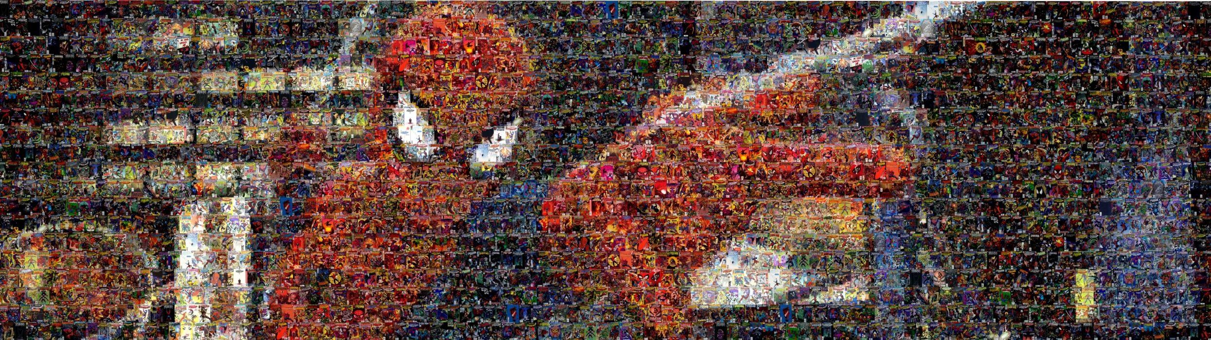 spiderman mosaic marvel comics collage wallpaper