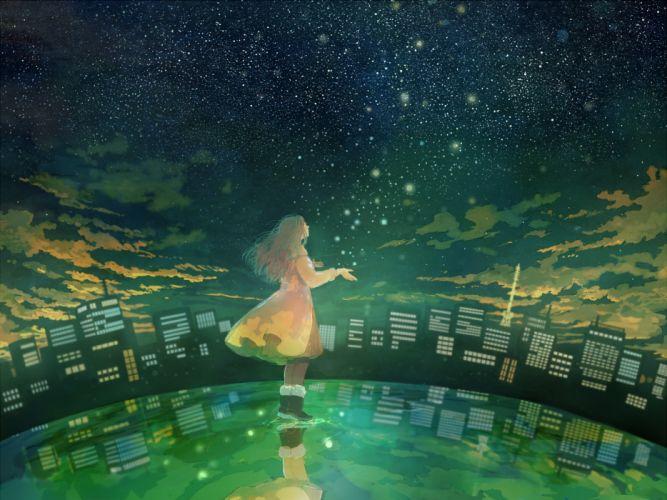pon (cielo) original anime girl wallpaper