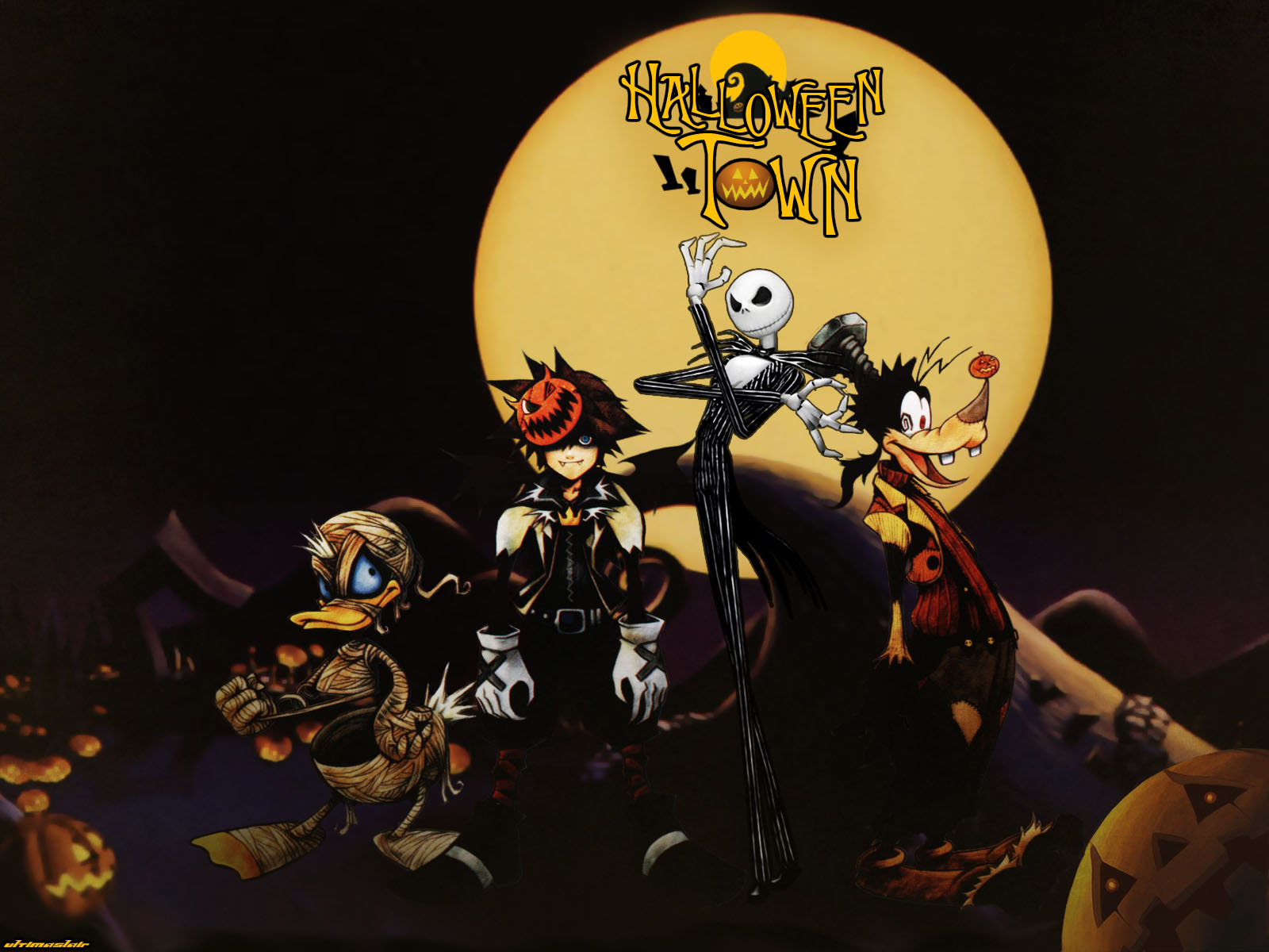 Kingdom Hearts disney halloween wallpaper | 1600x1200 ...