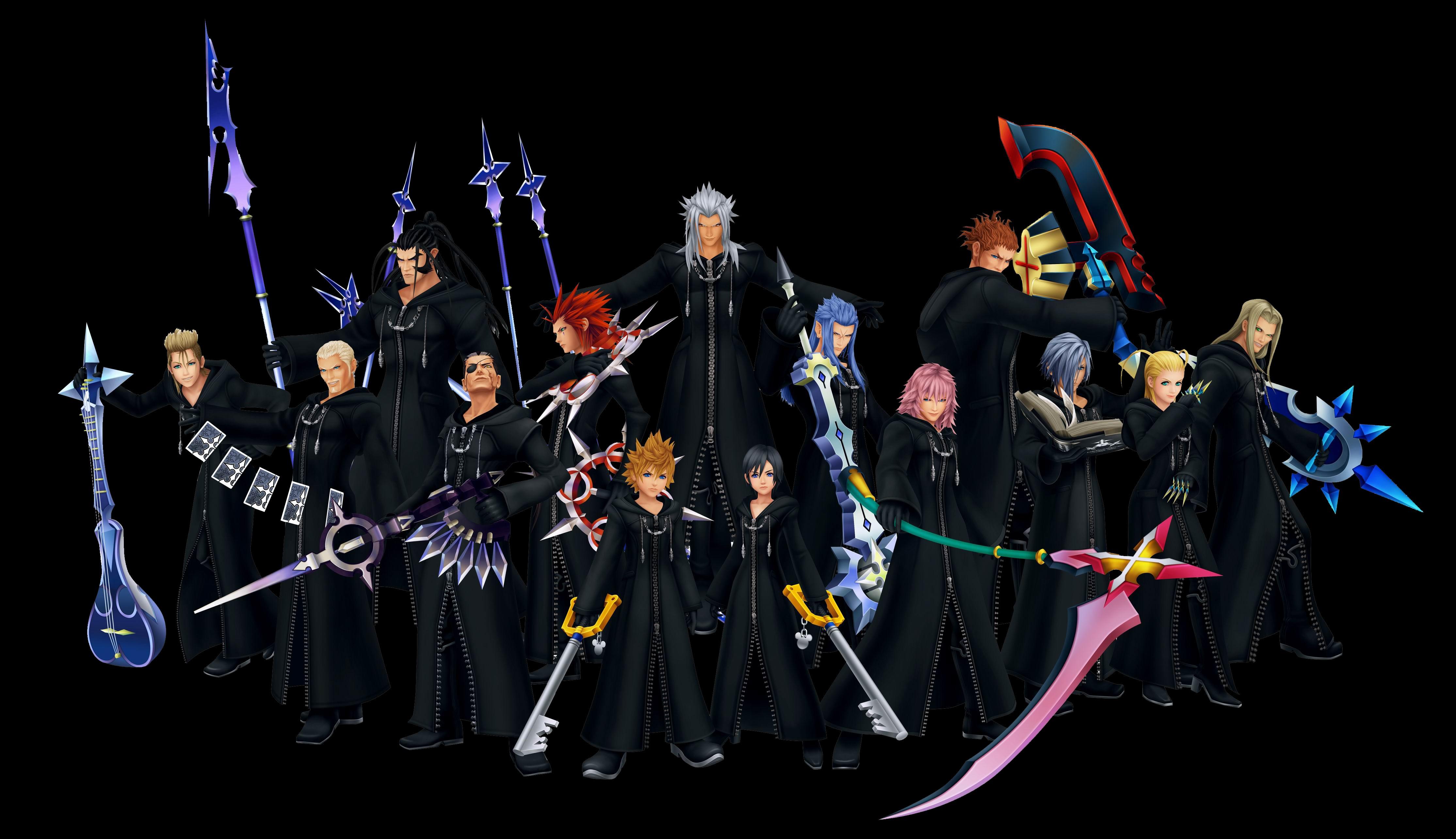 Kingdom Hearts disney multi dual wallpaper backgroundKingdom Hearts Organization 13 Wallpaper