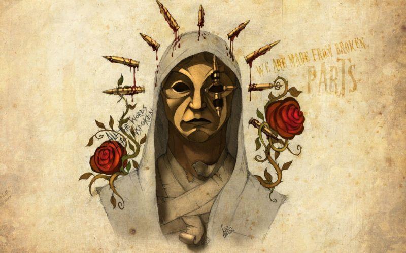 Hollywood Undead dark mask art rap wallpaper