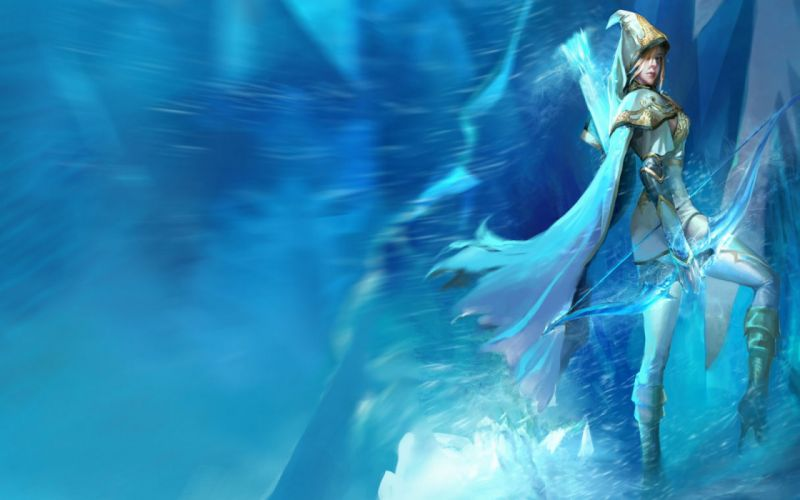 League Of Legends fantasy warrior girl weapons wallpaper