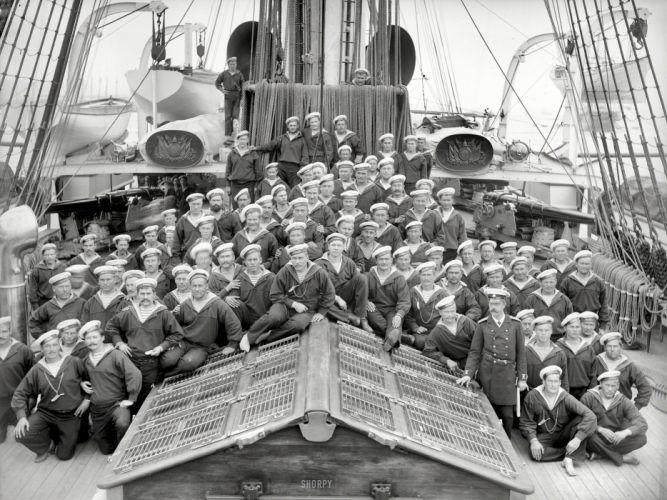 Navy BW Crew military people men males black white wallpaper