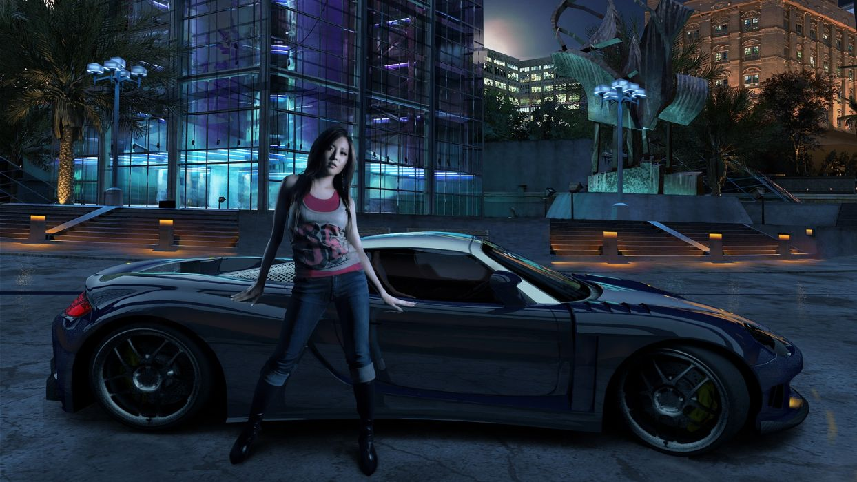Need For Speed Carbon asian models women females girls sexy babes supercars tuning wallpaper