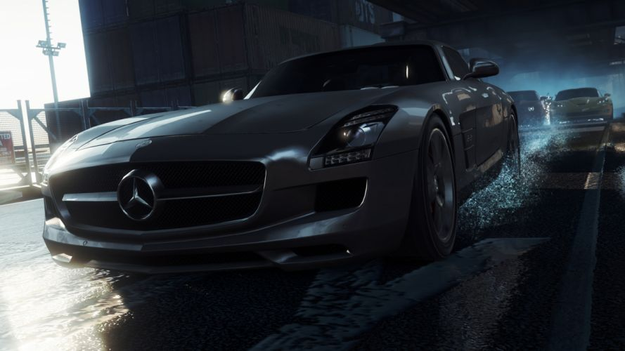 Need for Speed Mercedes-Benz SLS AMG wallpaper