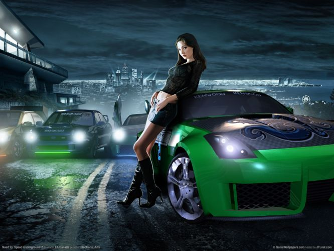 Need For Speed Underground 2 cars tuning women females girls sexy babes wallpaper