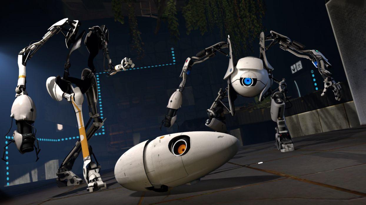Portal 2 robot sci-fi     d wallpaper