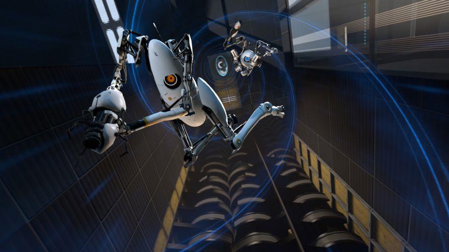 Portal 2 robot sci-fi e wallpaper
