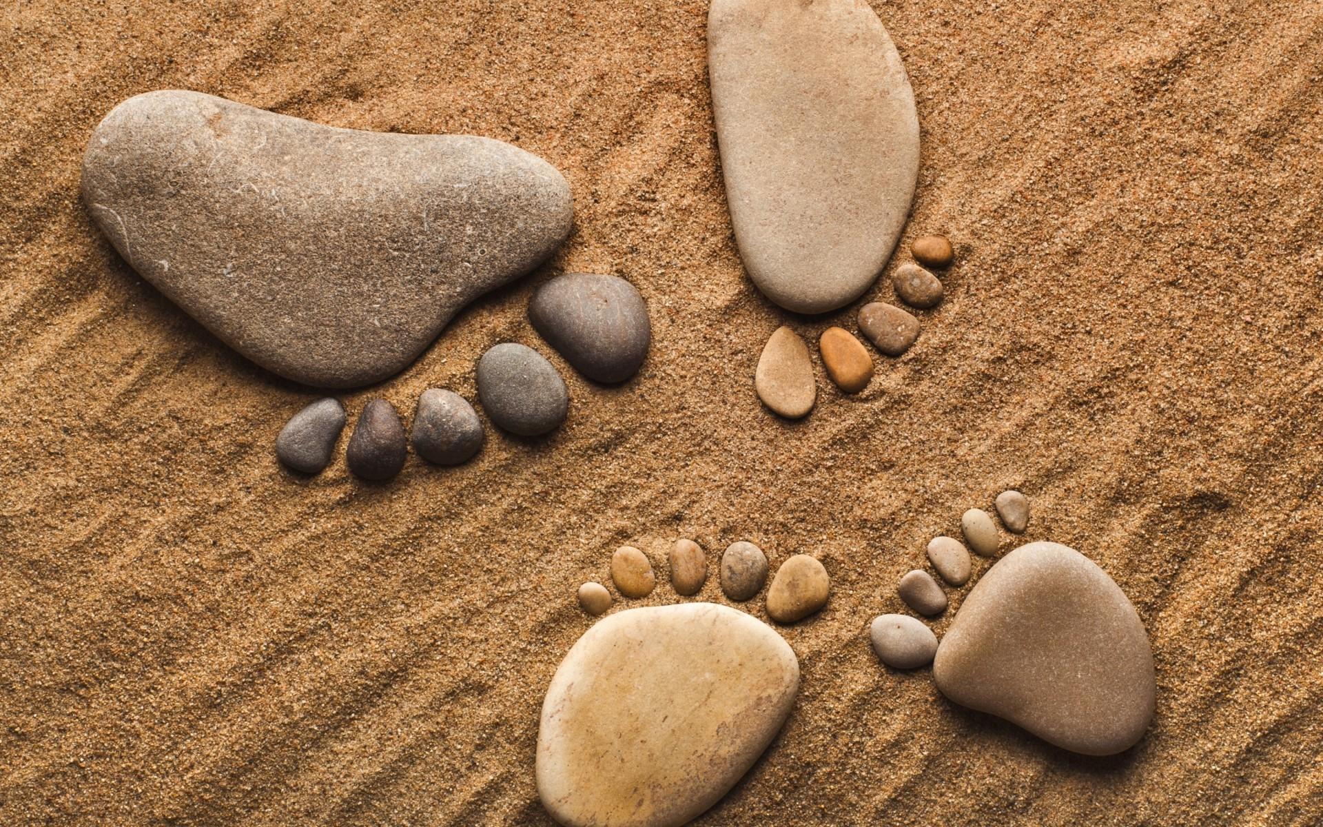 Rocks stones pebbles feet legs feet sand hang ten bokek ...