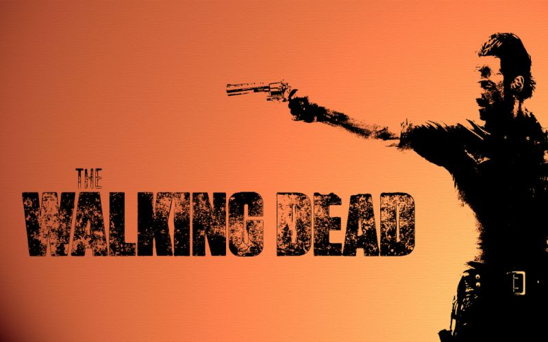 The Walking Dead televion zombies weapons guns wallpaper