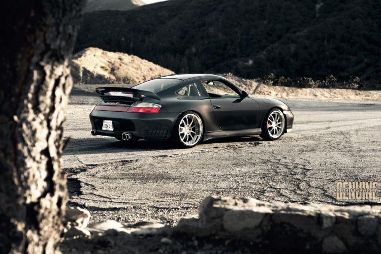 Porsche Carrera 996 4S supercar black mountain tuning wallpaper