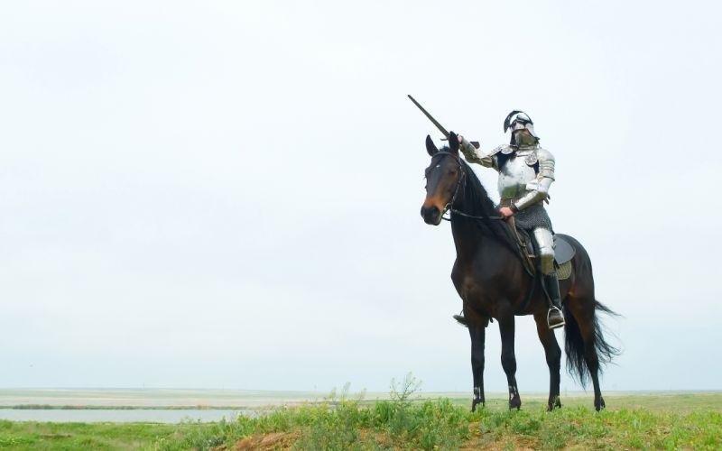 knight armor sword horse wallpaper