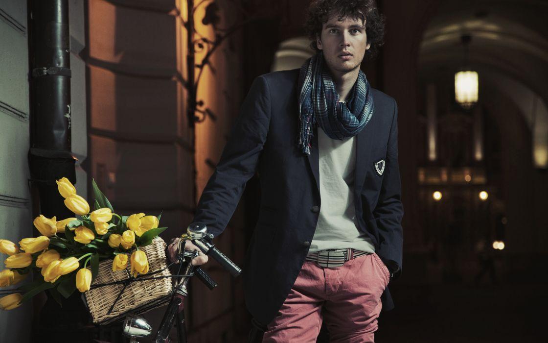 men males flowers mood wallpaper