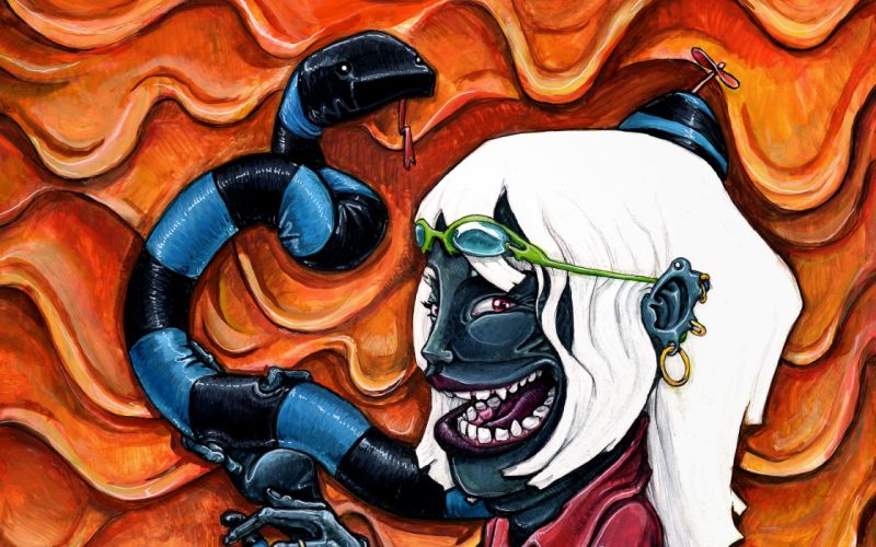 Drawing Face Abstract Snake wallpaper
