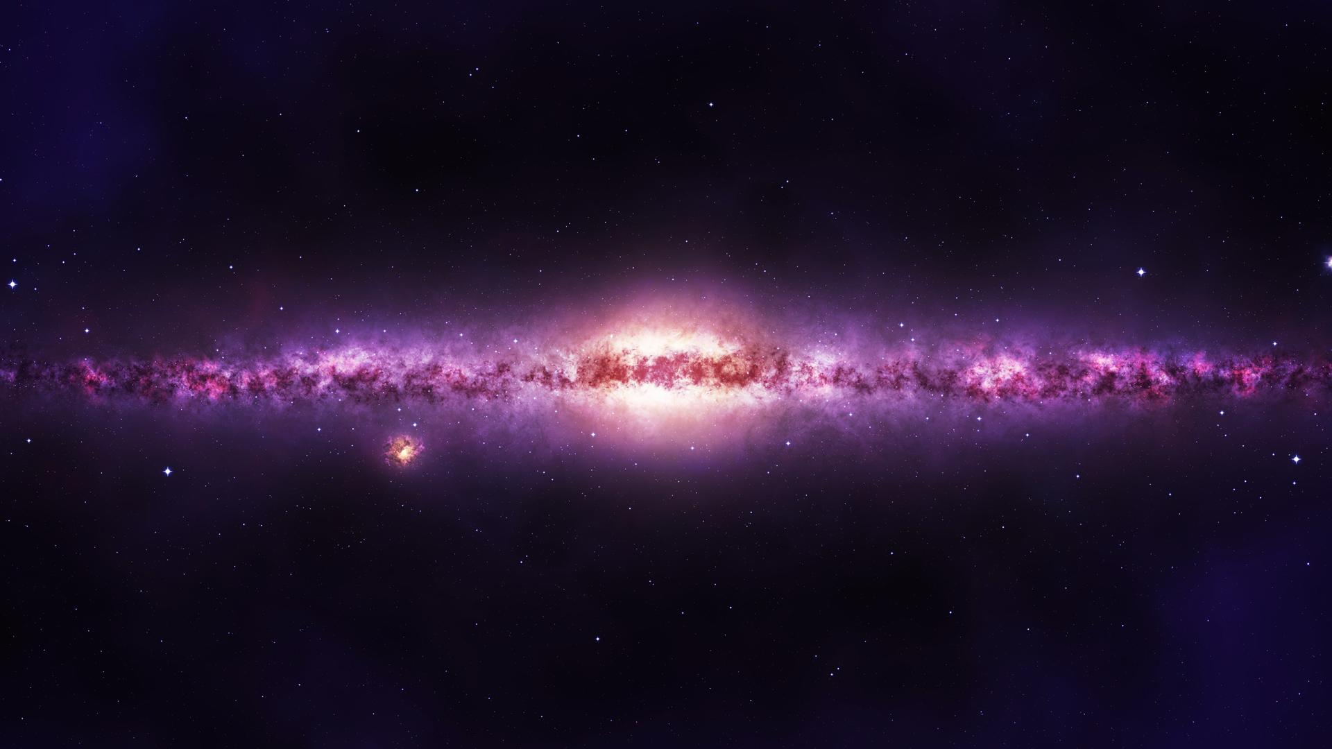 purple galaxy stars wallpaper - photo #2