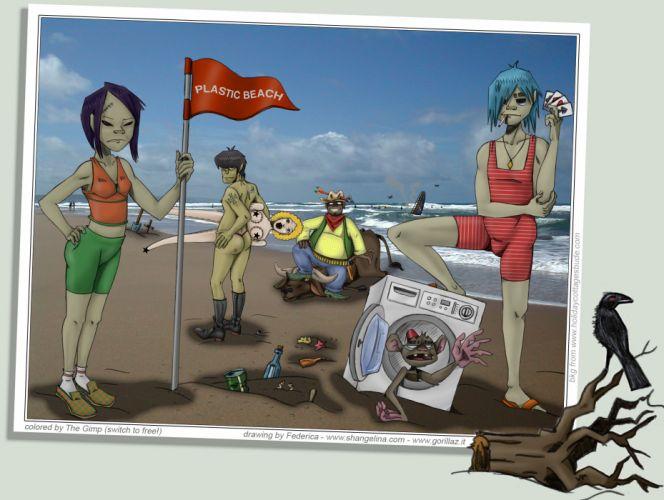 Gorillaz cartoon r wallpaper