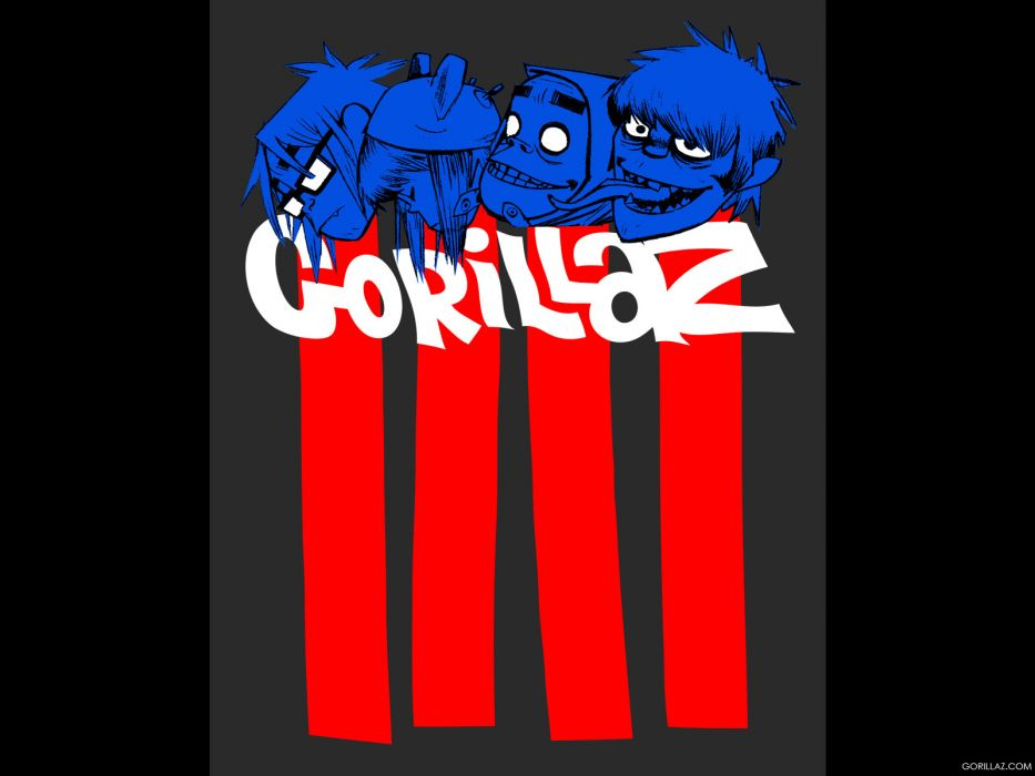 Gorillaz cartoon         v wallpaper