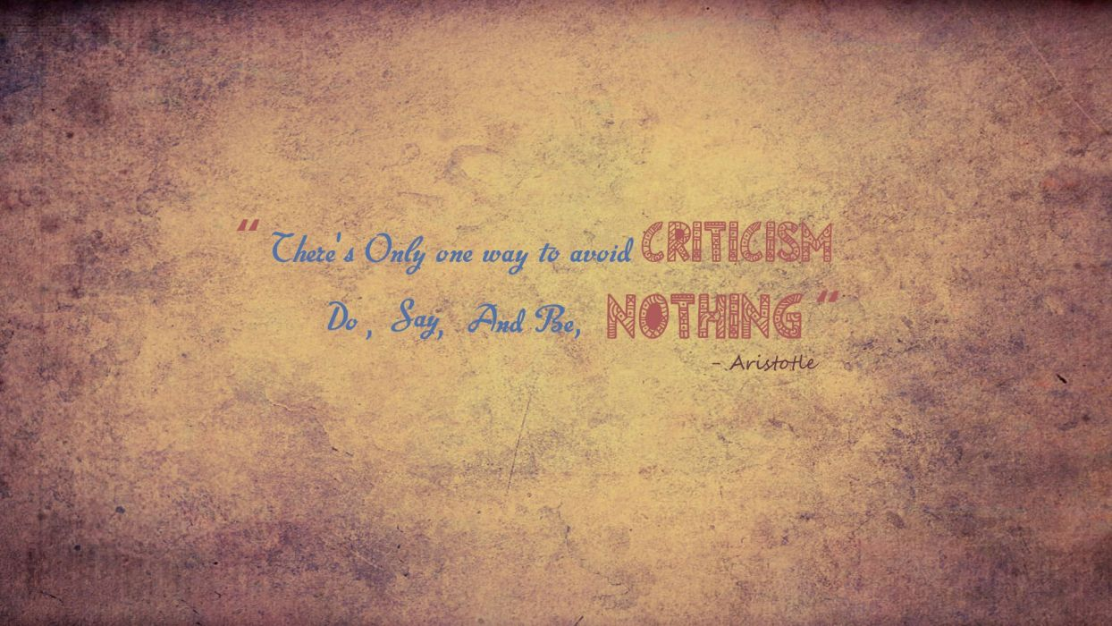 Aristotle Criticism Nothing wallpaper