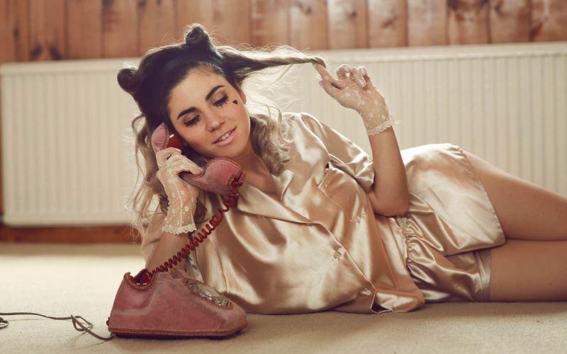 Brunette Phone Telephone Marina and the Diamonds wallpaper