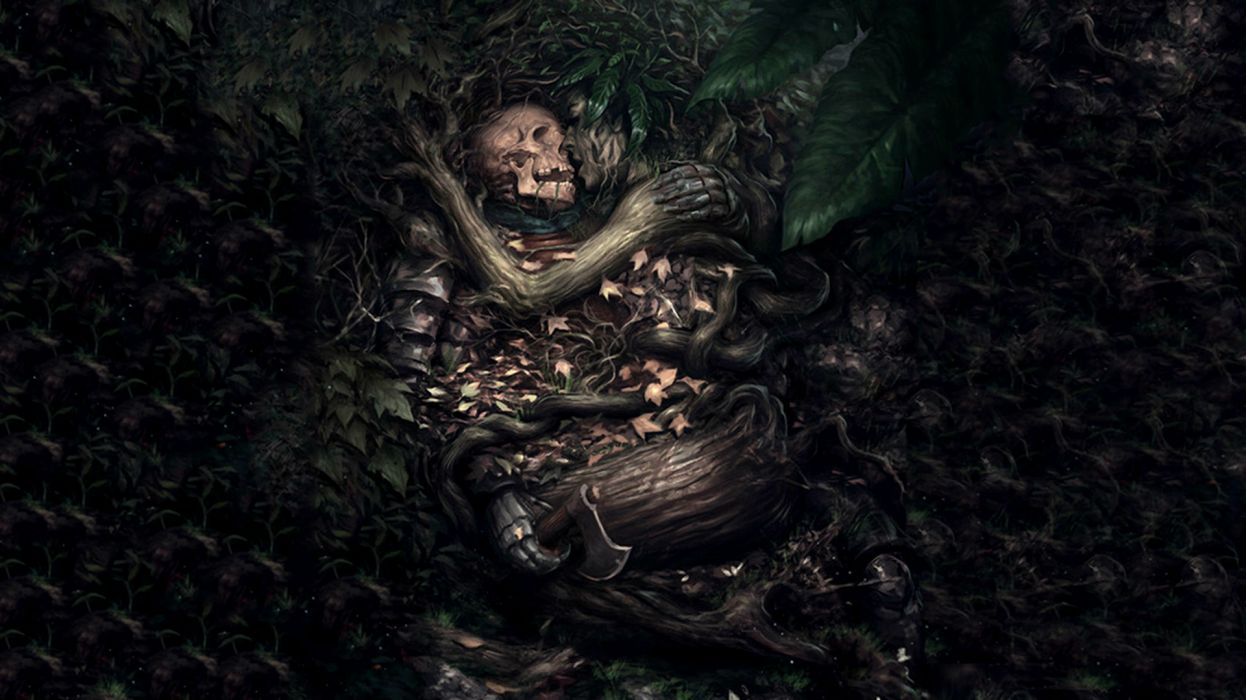 Dark Gothic Fantasy Skull Mood Love Death Sad Sorrow Wallpaper