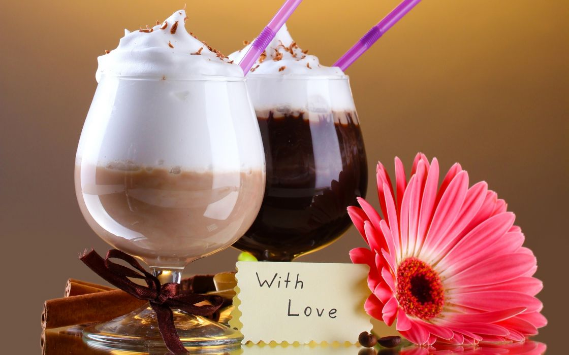 foam chocolate drinks mood love text wallpaper