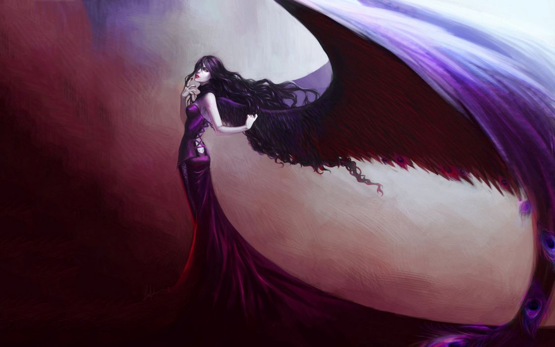 Girl With Wings Drawing