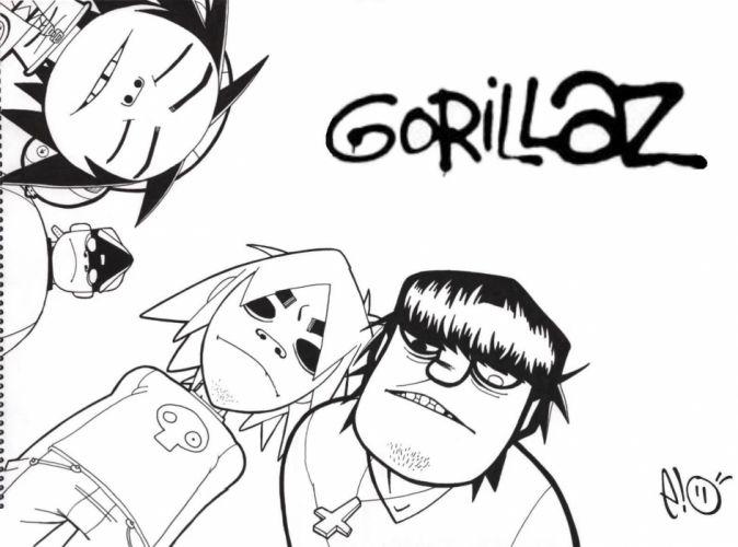 Gorillaz cartoon q wallpaper