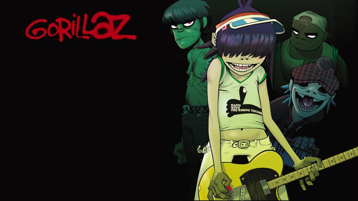 Gorillaz cartoon   g wallpaper
