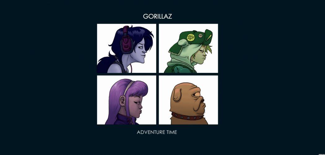 Gorillaz cartoon adventure time wallpaper