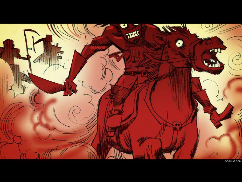 Gorillaz cartoon        f wallpaper