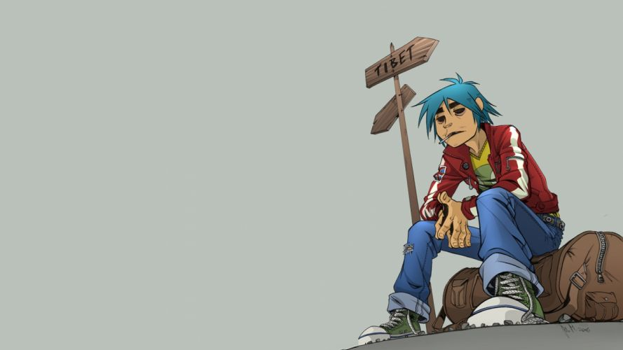 Gorillaz cartoon h wallpaper