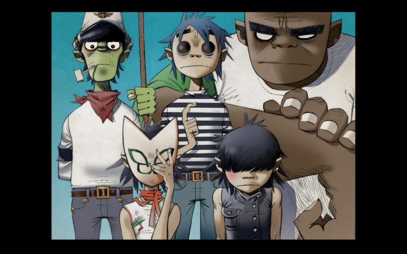 Gorillaz cartoon n wallpaper
