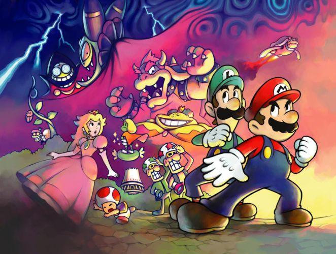 Mario Princess Peach Bowser Luigi wallpaper