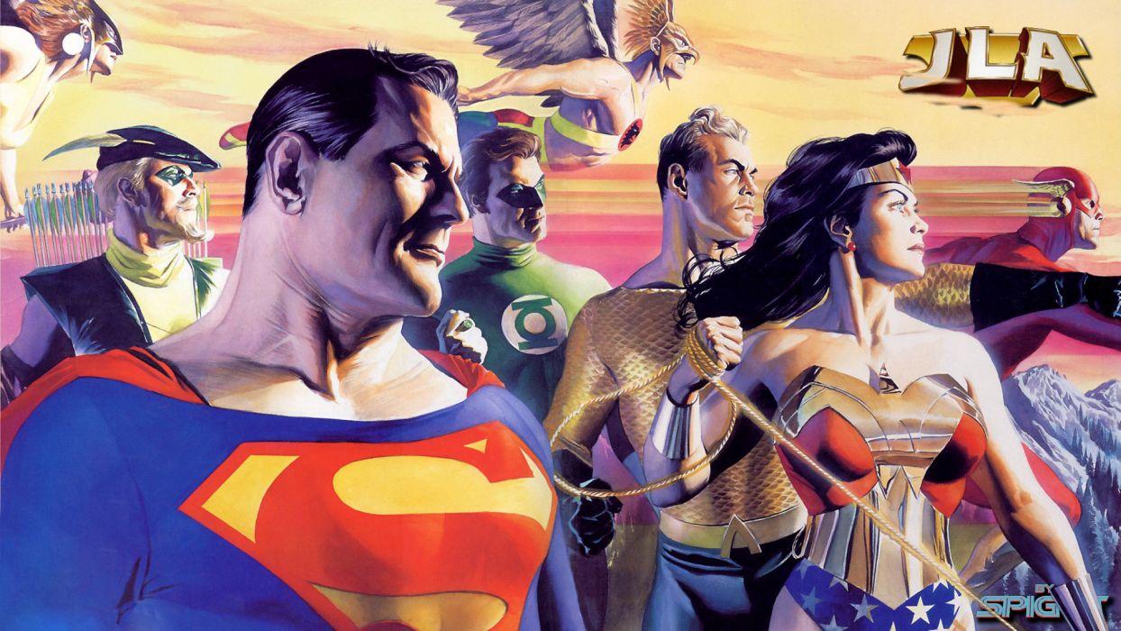 Justice League Dc Green Arrow Superman Wonder Woman The Flash