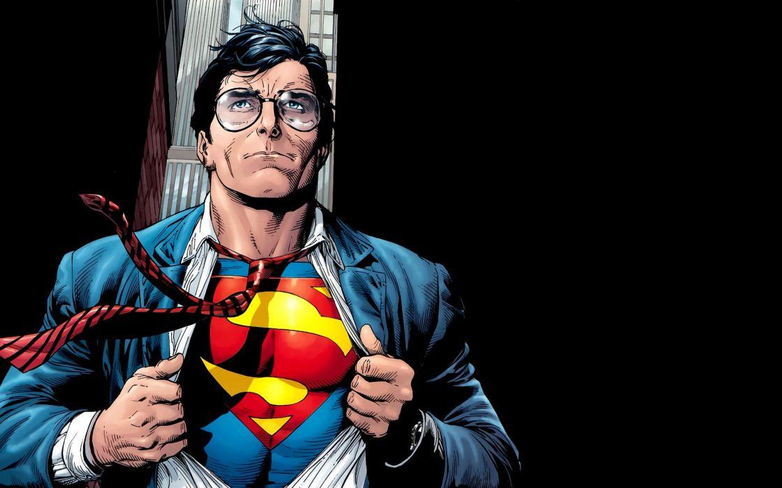 Superman Glasses Black wallpaper