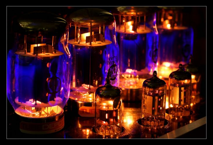 tubes glass lights wallpaper