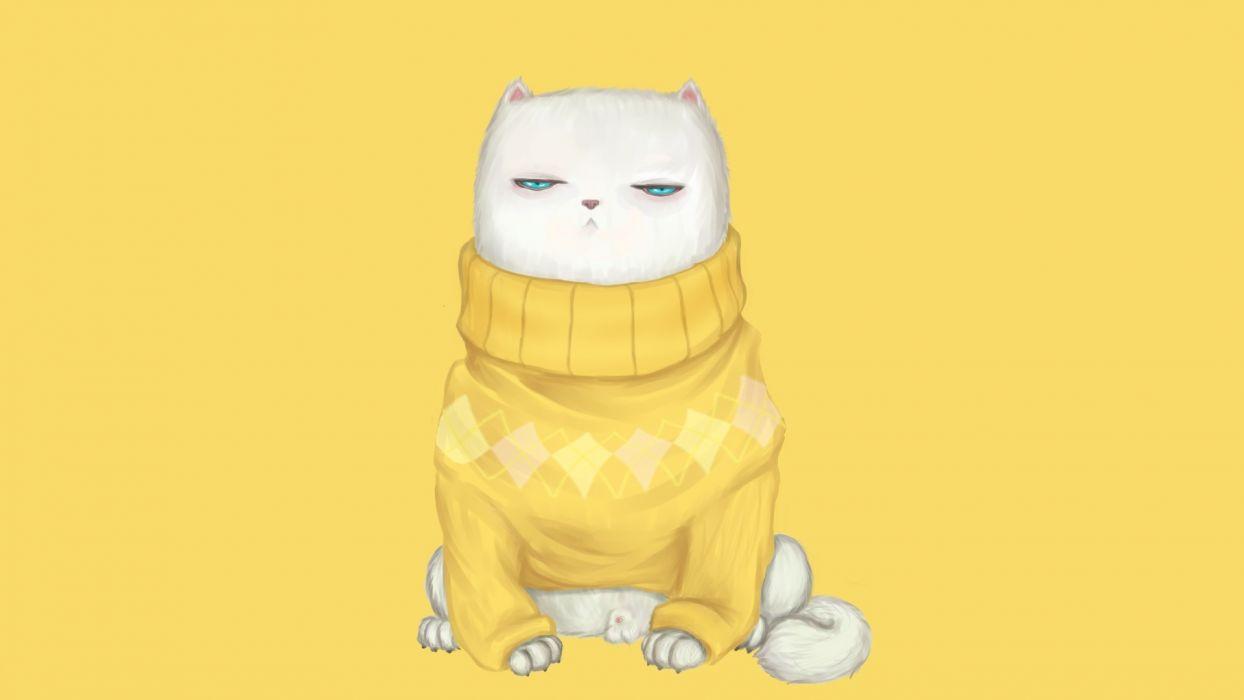 art cats humor wallpaper