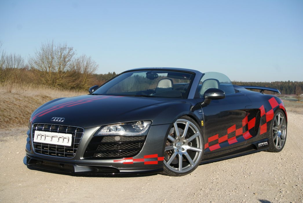 Audi 2012 MTM R8 V10 Quattro spyder Cabriolet Headlights Cars tuning wallpaper