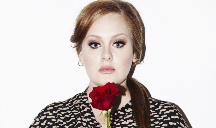 Adele singer Glance Face Hair Brown haired Music Girls Celebrities women females wallpaper